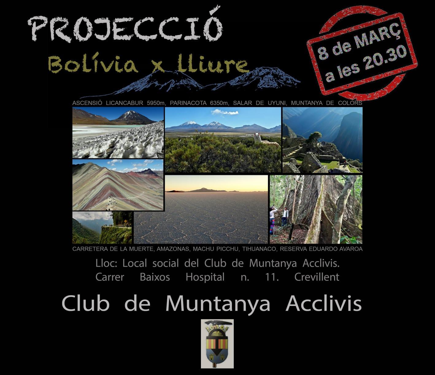 """8 de Març: Projecció """"Bolívia x lliure"""""""