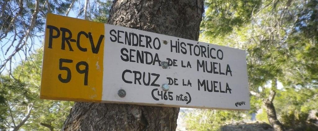 Cruz de la Muela, 465 m. (por el paso del gato).